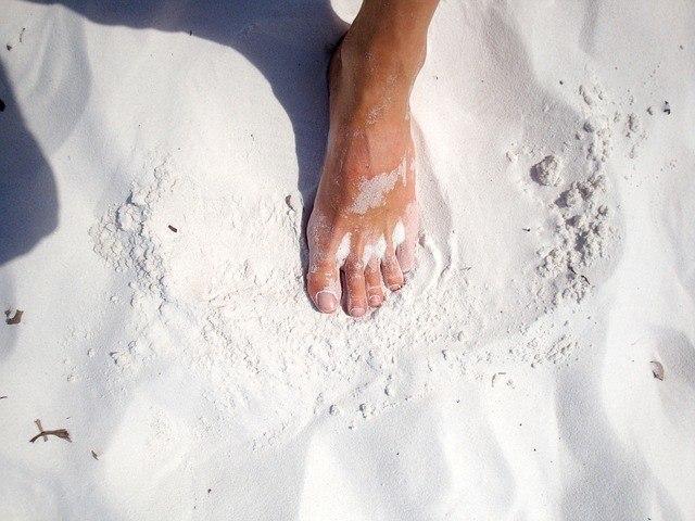 foot on sand